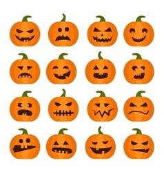 Halloweens pumpkin icons set vector image vector image