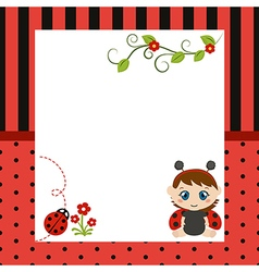 Happy baby with large sheet of paper vector image vector image