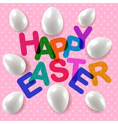 Happy easter greetings card vector image vector image