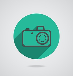 Hipster black photo camera icon element vector