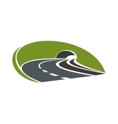 Icon of highway road with tunnel vector