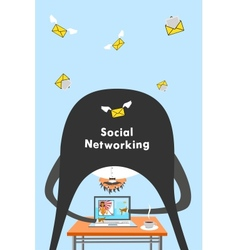 Internet and social networking vector image vector image