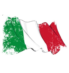 Italy Flag Grunge vector image vector image