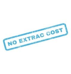 No extrac cost rubber stamp vector