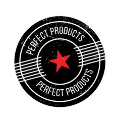 Perfect products rubber stamp vector