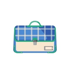 Schoolbag icon in flat style vector image