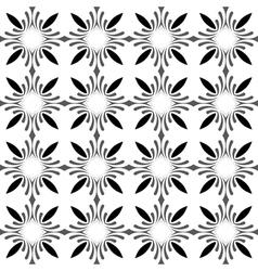 Seamless Black White Monochrome Vintage Pattern vector image