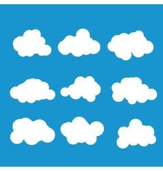 Set of cloud vector image