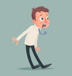 shok emotion fear horror depression stress vector image vector image
