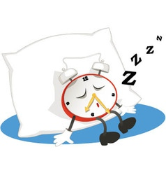 Sleeping alarm clock vector image vector image