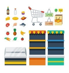 Supermarket Decorative Icons Collection vector image