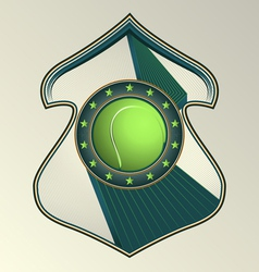 tennis award vector image vector image
