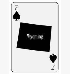 usa playing card 7 spades vector image vector image