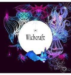 Vintage Witchcraft Frame vector image