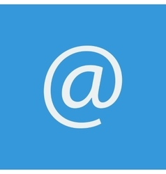 White email icon on blue background vector image