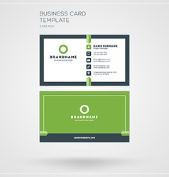 Business card print template personal visiting vector