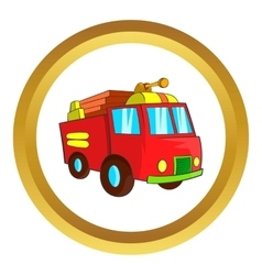 Fire truck icon vector