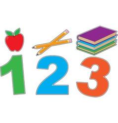 123 vector image
