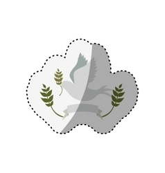 Dove cute ornament vector image