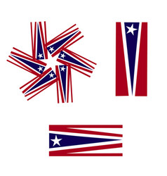 usa flags symbol icon logo vector image