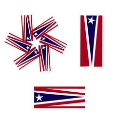 Usa flags symbol icon logo vector