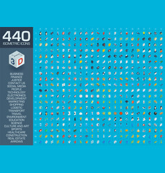 3d of isometric flat icons for vector image