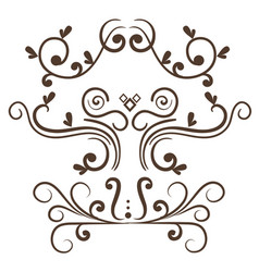 Ornamental borders design vector