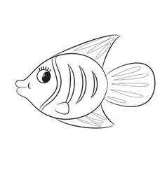 fish outlined vector image