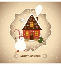 Christmas and new years card vector