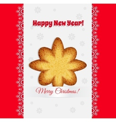 Christmas cookies in the shape of a star vector image