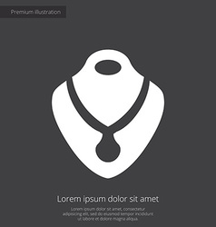 Necklace premium icon white on dark background vector