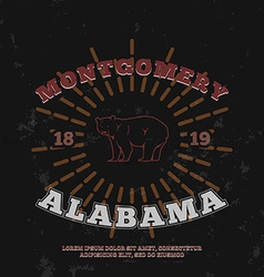 Montgomery alabama t-shirt graphic print vector