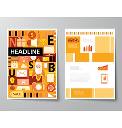 Headline startup set of magazine cover vector