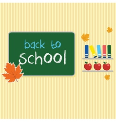 Blank with board back to school vector