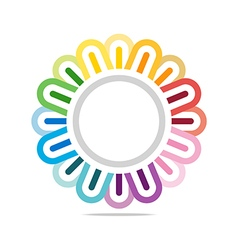 Logo colorful star connect design symbol icon vector