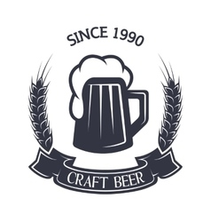 Craft brewing vintage emblem vector