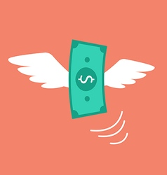 Money flying like a bird vector image