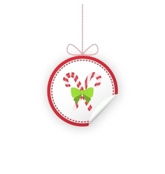 Label for christmas gifts sales product vector