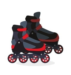 Roller skating design vector