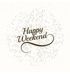 Hello weekend poster vector