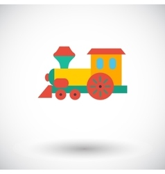 Train toy flat icon vector