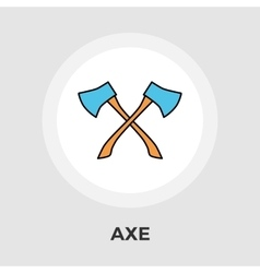 Axe flat icon vector