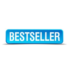 Bestseller blue 3d realistic square isolated vector