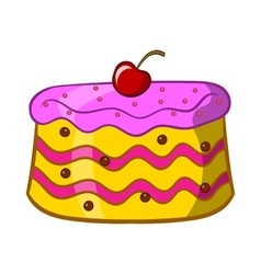 Cake icon cartoon style vector