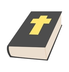 Bible book icon in cartoon style vector