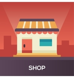 Store front - flat design single icon vector