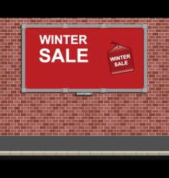 bilboard sign vector image vector image