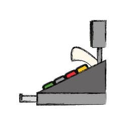 Cash register machine vector