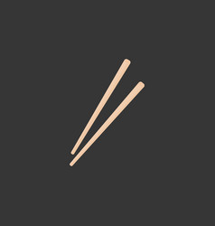 chopsticks flat icon vector image