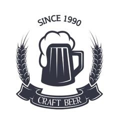 Craft brewing vintage emblem vector